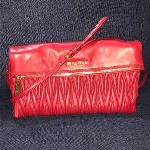 Miu Miu leather crossbody bag